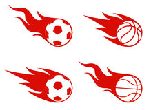 Flight of a ball, sports symbol Stock Photography
