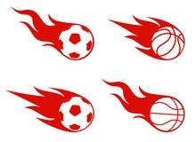 Flight of a ball, sports symbol Stock Photography