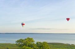 Flight of Balloons Stock Photo