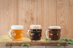 Flight beer. Berr for tasting stock image