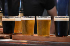 Flight of beer royalty free stock photos
