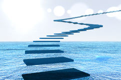 Flight of blue steps Royalty Free Stock Image