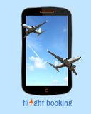Flight booking Stock Photo