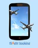 Flight booking stock photo