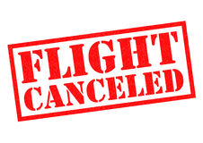 FLIGHT CANCELED Rubber Stamp Royalty Free Stock Photography