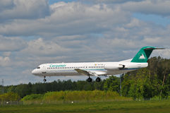 Flight Carpatair lines Royalty Free Stock Images