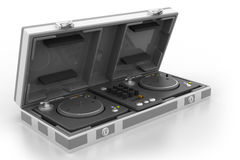 Flight Case and turntable Stock Photos