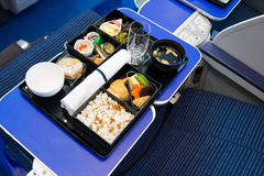 In-flight catering Stock Afbeeldingen