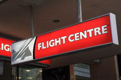 Flight Centre Travel Agency Royalty Free Stock Photo