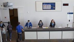 Flight check in Stock Image