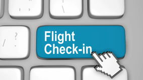 Flight check in online Royalty Free Stock Photography