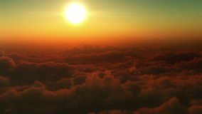 Flight in the clouds. High quality animation of flight in the clouds. 1.Airplane in clouds, 2.Clouds, 3.Airplane trackers, 4.Airplane in clouds stock video