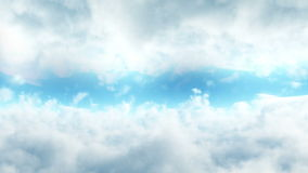 Flight in clouds. Loopable background. stock footage