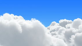 Flight in clouds stock footage