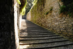 Flight of cobbled steps in Bellagio, Lake Como Stock Image