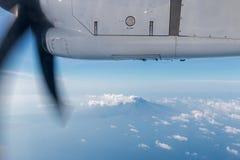Flight comodo. Aircraft plane window Stock Photo