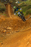 Flight Control Downhill Racer MTB Stock Image
