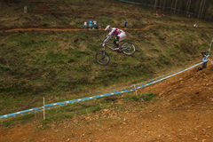Flight Control Downhill Racer MTB Royalty Free Stock Photos