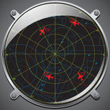 Flight control radar Stock Image
