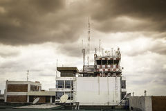 Flight control tower Stock Photography
