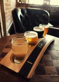 Flight of Craft Beer Stock Image