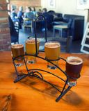Flight of Craft Beer Royalty Free Stock Photos
