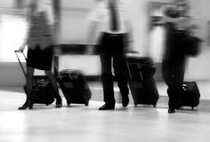 Flight Crew. A Flight Crew Walking in the Airport Royalty Free Stock Image