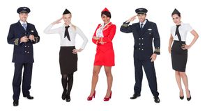 Flight crew members, pilots, stewardesses Stock Photography