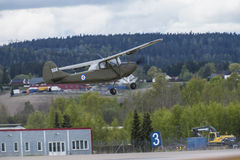 Flight day 11 May, 2014 at Kjeller (airshow) Royalty Free Stock Image