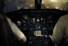 Flight deck cockpit Stock Image