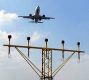 Flight deck jet plane Stock Photography
