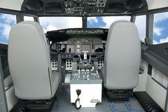 Flight Deck Simulator. Aircraft 737 flight deck simulator royalty free stock photos