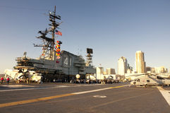 Flight deck of the USS midway Stock Photo