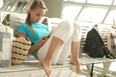 Flight delay Royalty Free Stock Images