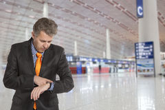 Flight delay Stock Photo