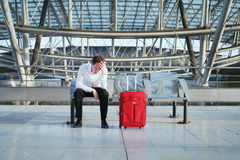 Flight delay Royalty Free Stock Photo