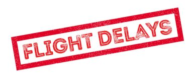 Flight Delays rubber stamp Royalty Free Stock Photography