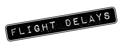 Flight Delays rubber stamp Stock Photos