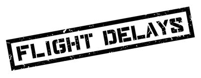 Flight Delays rubber stamp Royalty Free Stock Image