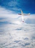 Flight deltaplane clouds Stock Photos