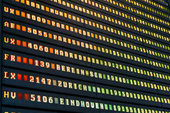 Flight Departure And Arrivals Of Planes Information Board In Airport Stock Images