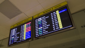 Flight Departure Information Asia Countries Stock Photos
