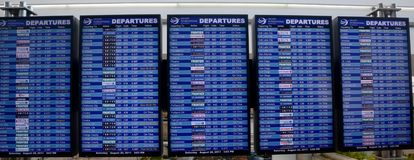 Flight departures board Royalty Free Stock Image