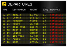 Flight departures board Royalty Free Stock Photography