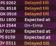 Flight Departures Board Stock Image