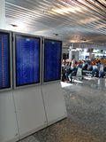 Flight Departures are shown on monitors Royalty Free Stock Photos