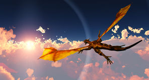 Flight of the dragon Stock Photos