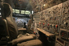 Flight Engineer's Console Royalty Free Stock Photography