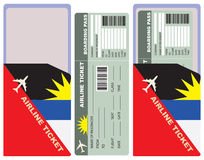 Flight with an envelope for Antigua and Barbuda. Flight with an envelope for the flight to Antigua and Barbuda Stock Photography