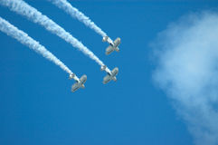 Flight formation team Royalty Free Stock Photos